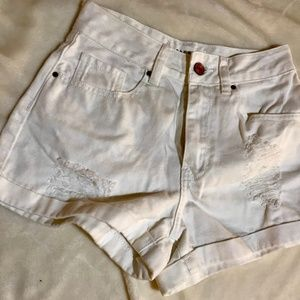 White Cute Pacsun Ripped High Waisted Jean Denim S